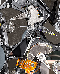 Physically destroying a hard drive makes any data 100% irretrievable