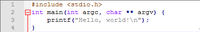 "An example program would be a simple ""Hello World!"" program coded in C."