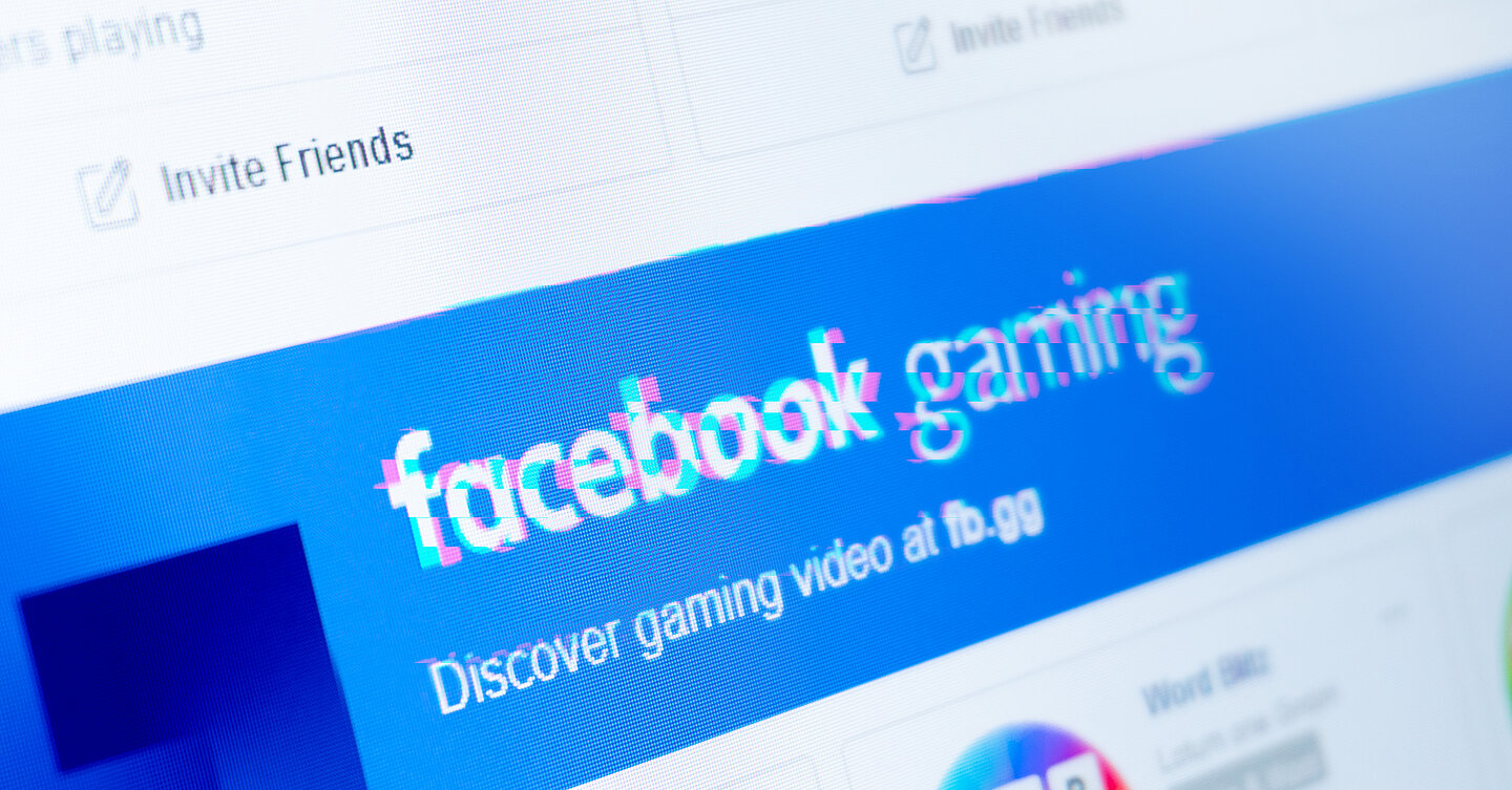 Facebook also has a dedicated games platform (image: G DATA)