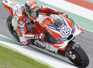 Ducati motorcycle at a race