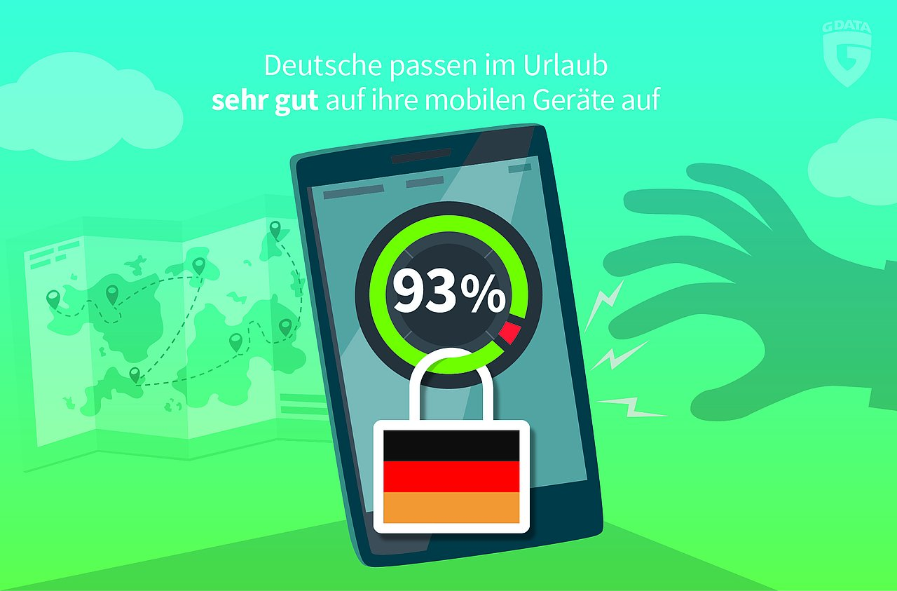 German vacationers apparently take good care of their mobile phones.