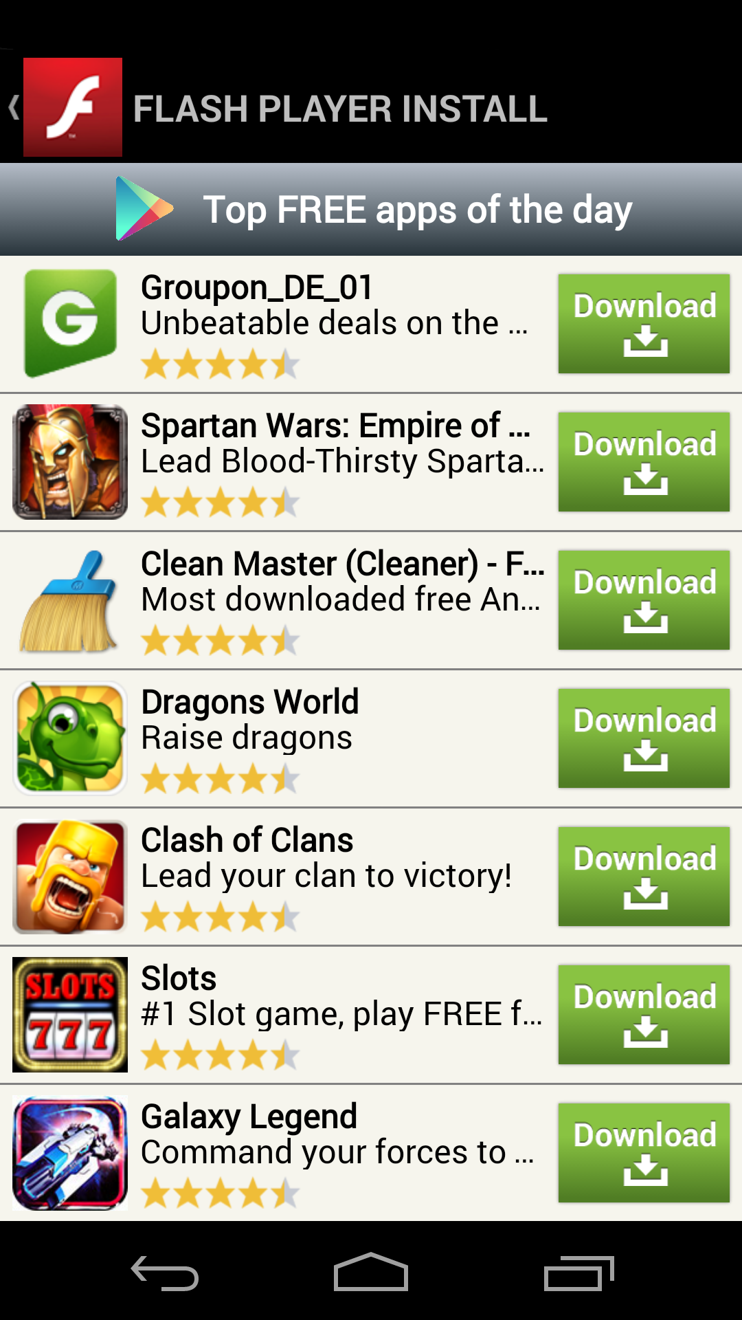 Worth looking again: fake Flash Player apps in Google Play