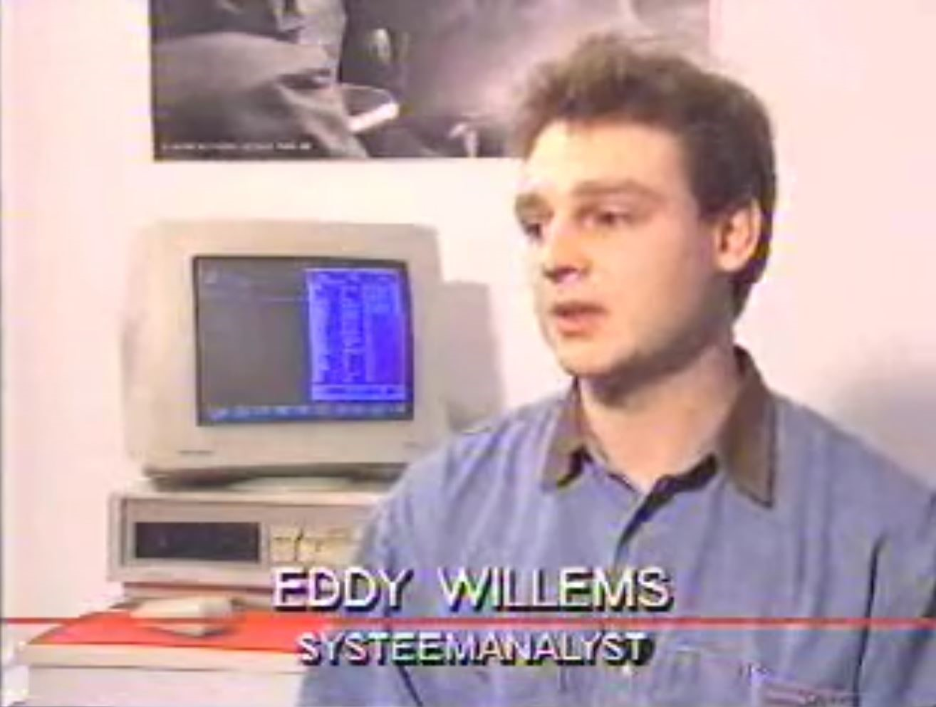 First interview in 1989 by VTM Nieuws. (Source: private)